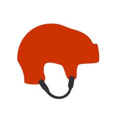 ice hockey helmet vector image