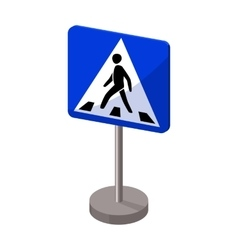 Information road signs icon in cartoon style vector image