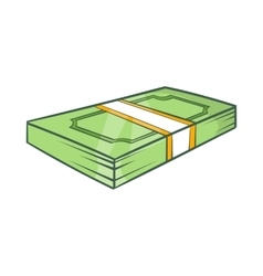 Packed dollars money icon cartoon style vector image vector image