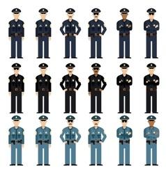 Set of police men vector image