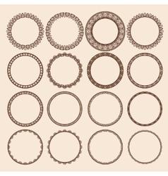 Set of Round Pattern Frames vector image