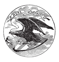 the official seal of the us state of alabama in vector image