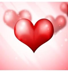 Blur Hearts Valentine day background vector image
