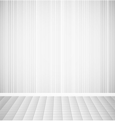 Bright empty room with striped wall and square vector