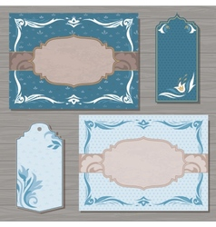 Decorative cards template vector image