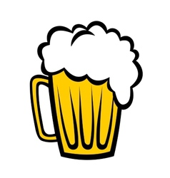 Pint of refreshing frothy beer vector image