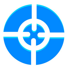 abstract crosshair target mark icon with vector image