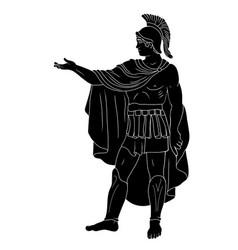 An ancient roman legionar vector
