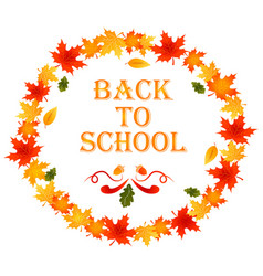 Back to school autumn background vector