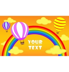 Balloon with rainbow vector