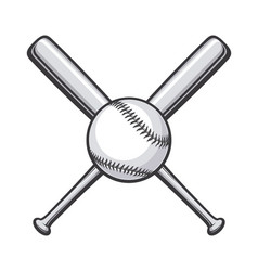 baseball bats crossed with vector image