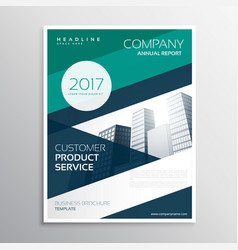 Business leaflet brochure design template with vector