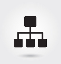 Business structure glyph icon for any purposes vector