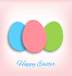 Cardboard easter eggs vector