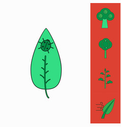 Collection of icons and environmental nature vector