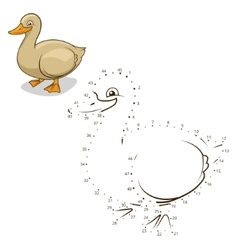 Connect the dots game duck vector