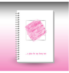 Cover diary notebook or book with ring spiral vector