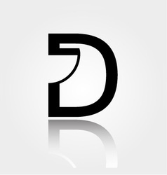 D for design- Logo for interior design or architec vector image