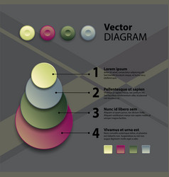 diagram template vector image