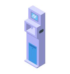 Disinfection kiosk icon isometric style vector