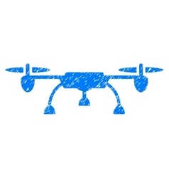 Drone Grainy Texture Icon vector