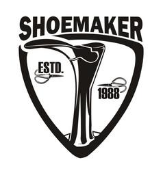 Emblem shoemaker 1988 vector