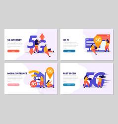 fast speed internet 2x2 design concept vector image