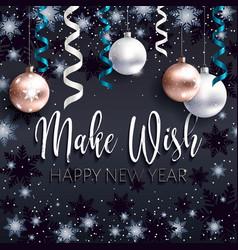 festive black banner xmas greetings make wish vector image
