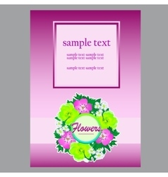 Floral card with wreath and space for your text vector image