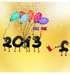 Funny 2013 New Years Eve greeting card EPS8 vector