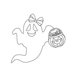 ghost halloween vector image