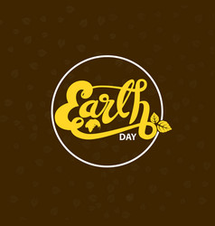 globe sign and green earth day typographical vector image