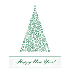 green snowflake christmas tree isolated on the vector image