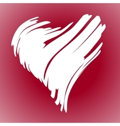 hand drawn heart vector image