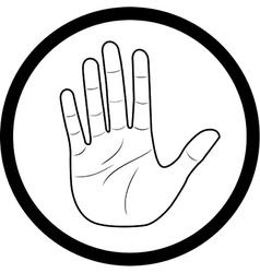 Hand icon vector