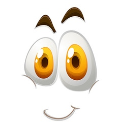 Happy face on white vector