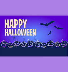 happy halloween banners flat designed background vector image