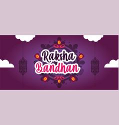 Happy raksha bandhan poster design vector