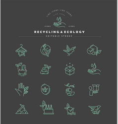 icon and logo for environmental protection vector image