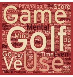 Intro to mental game golf part 1 text vector