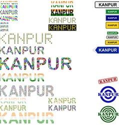 Kanpur text design set vector