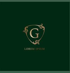 Letter g alphabetic logo design template luxury vector