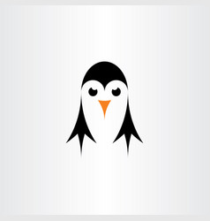 little penguin symbol logo element sign vector image