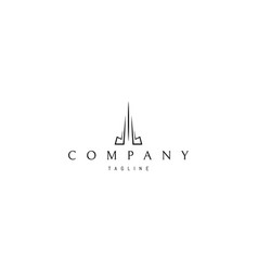 logo on which an abstract image a tall vector image
