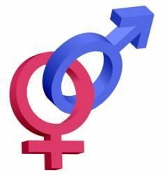 male female 3d symbols vector image