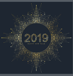modern of happy new year 2019 vector image