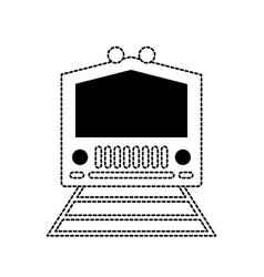 Monochromatic train illastr vector