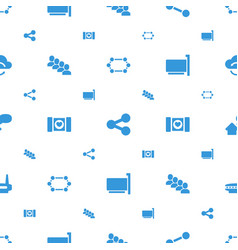 Network icons pattern seamless white background vector