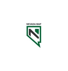 Nevada map logo vector