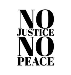 No justice peace hand drawn vector
